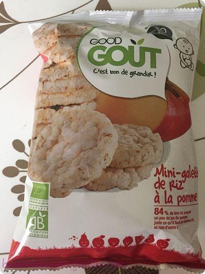Mini galettes de riz à la pomme bio