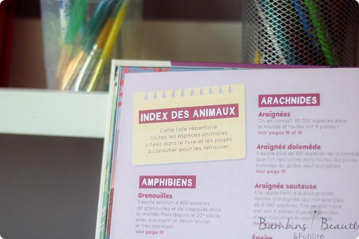Index des animaux Fleurus