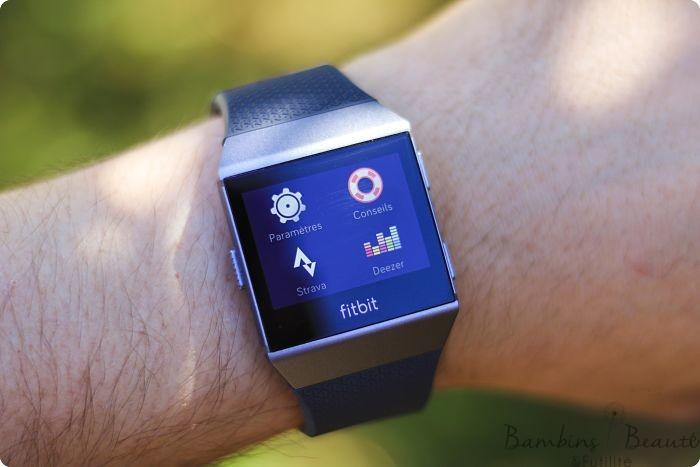 Menu Fitbit et conseils