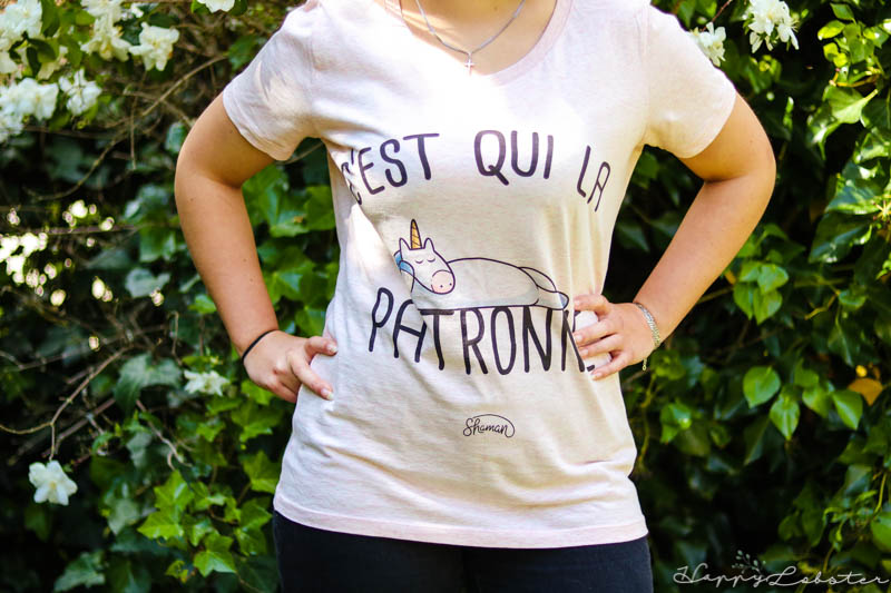 Tee Shirt original femme imprimé en coton bio