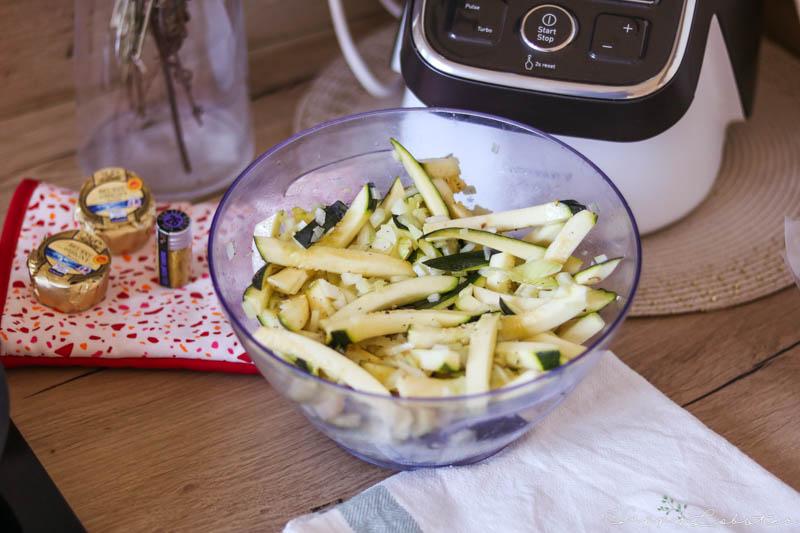 Frites de courgettes et oignons, recette Quitoque