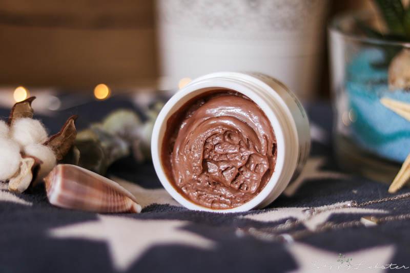 Texture masque mousse au chocolat visage