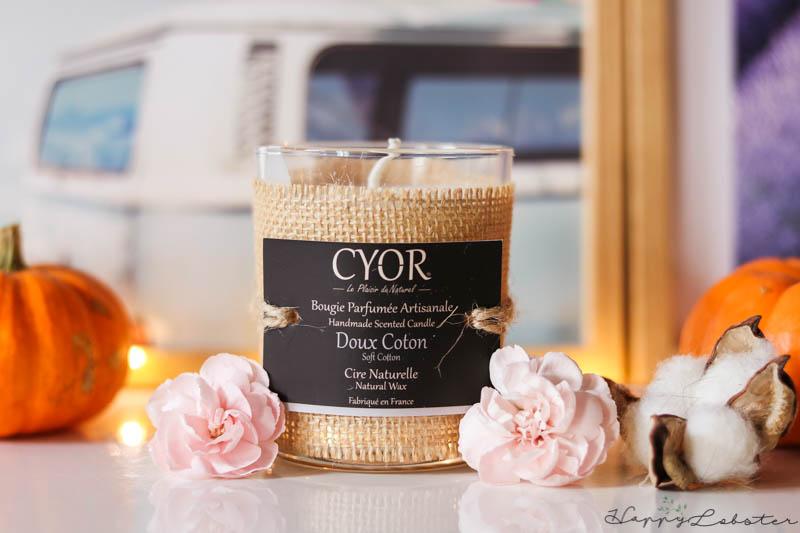 Bougie naturelle Cyor Doux Coton