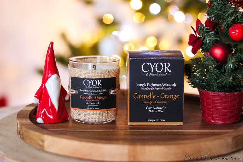 Bougie parfumée naturelle cannelle-orange