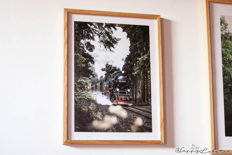 Train à vapeur - décoration murale