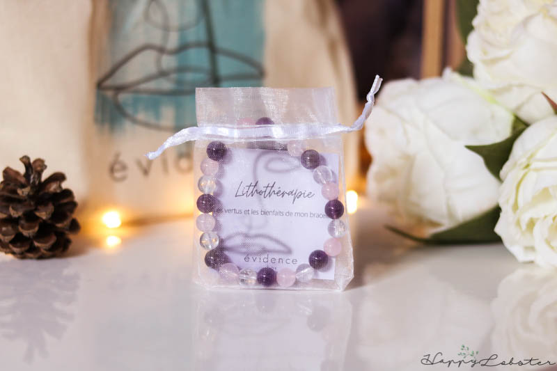 Bracelet améthyste, cristal de rose et quartz rose