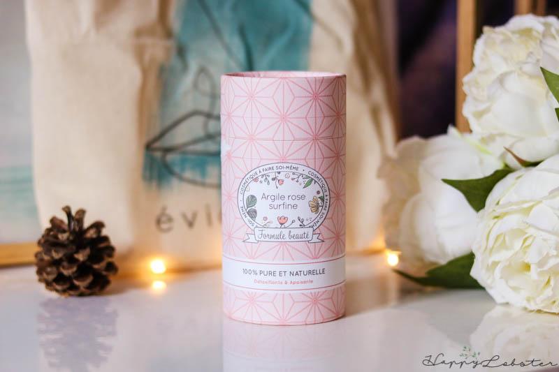 Poudre d'argile rose bio - Box Évidence de Février