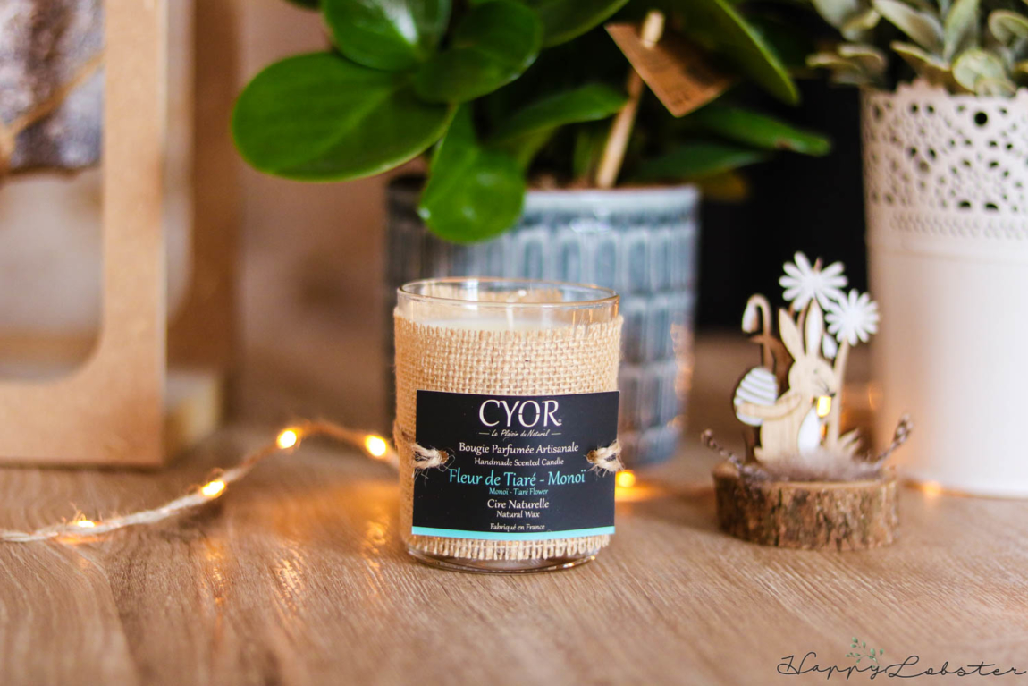 bougie parfumée naturelle CYOR