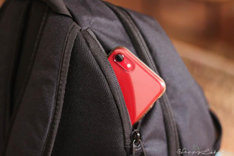 Poche arrière en feutre pour clés et téléphone